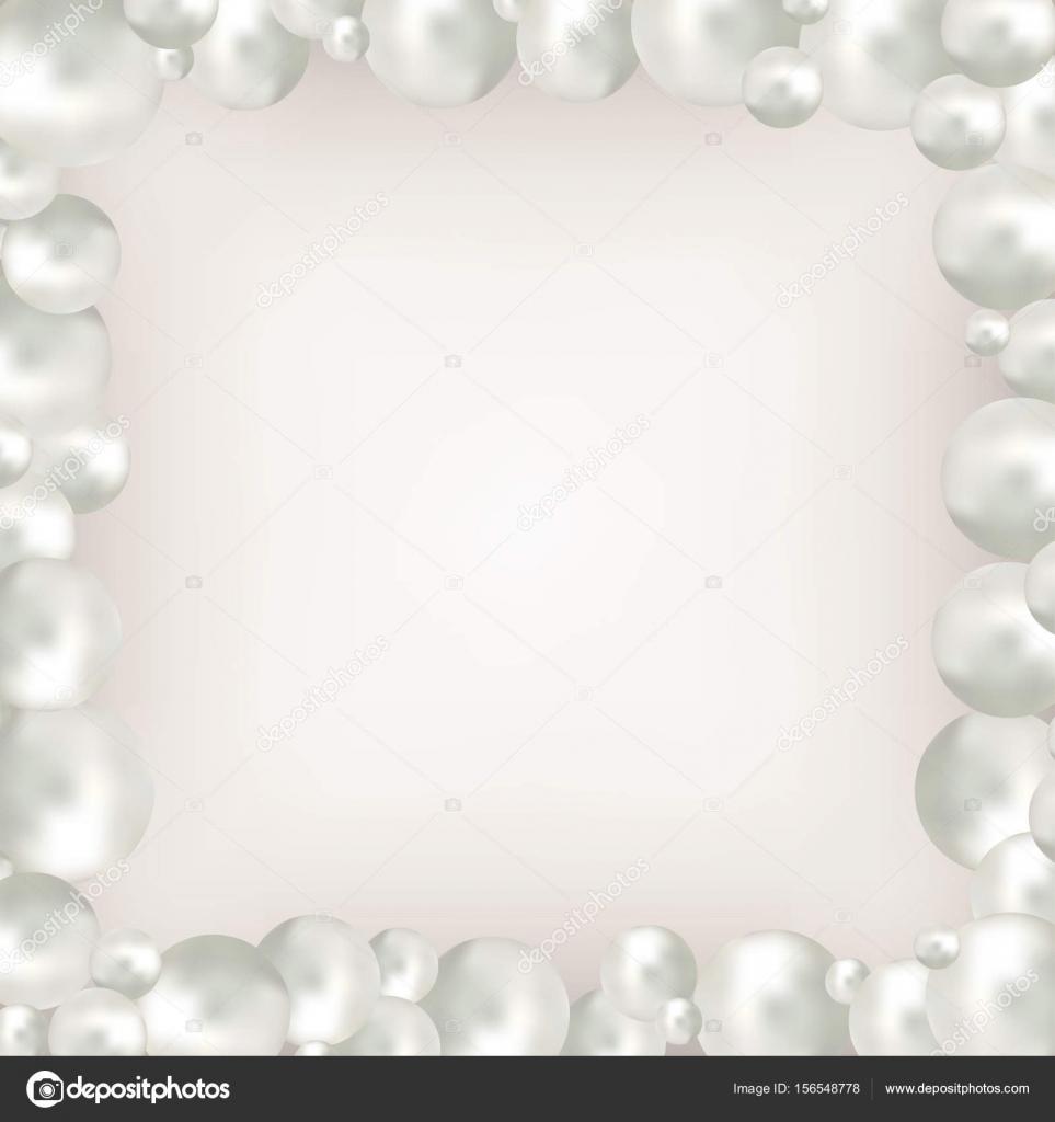 Marco de perlas sobre fondo beige — Vector de stock © Meranna #156548778
