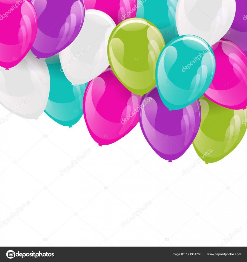 Rahmen von bunten Heliumballons — Stockvektor © Meranna #171351780