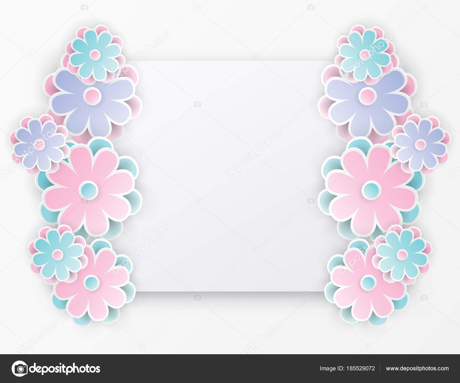 Elegant floral background with 3d paper flowers stock vector elegant floral background with 3d paper flowers and place for text origami trendy design template paper cut spring flower holiday texture mightylinksfo