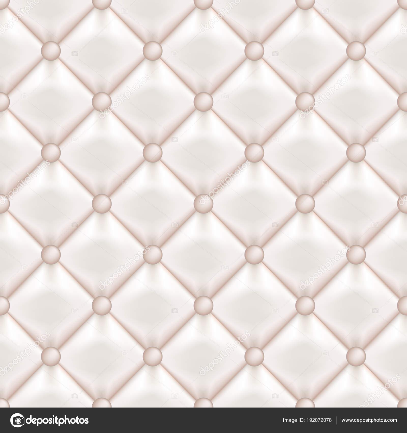 Cuero acolchado tapizado vector de patrones sin fisuras. Cuero ...