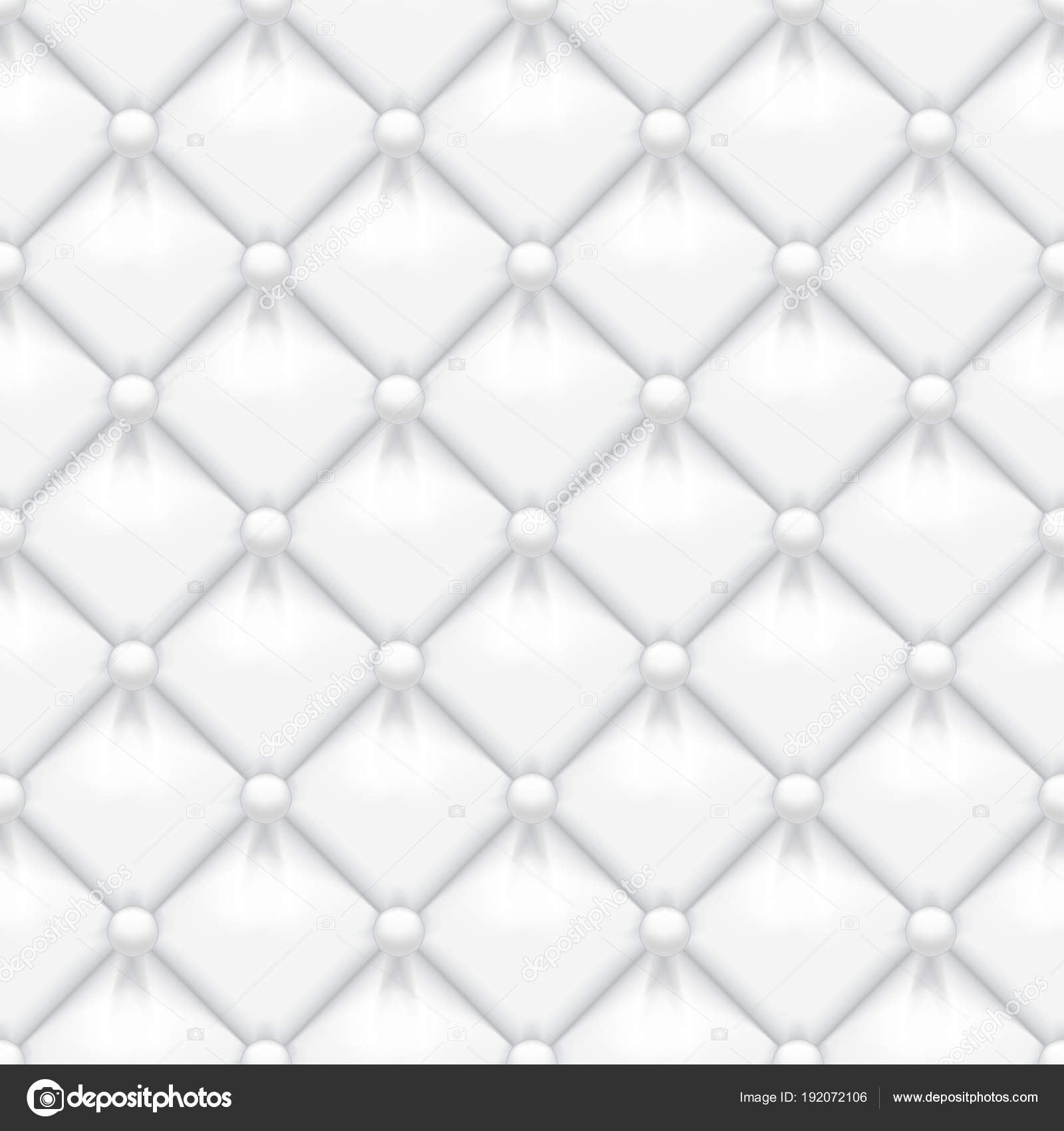 Blanco había acolchado cuero tapicería vector de patrones sin ...