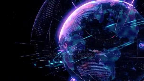 Erde-Welt-Globus-animation