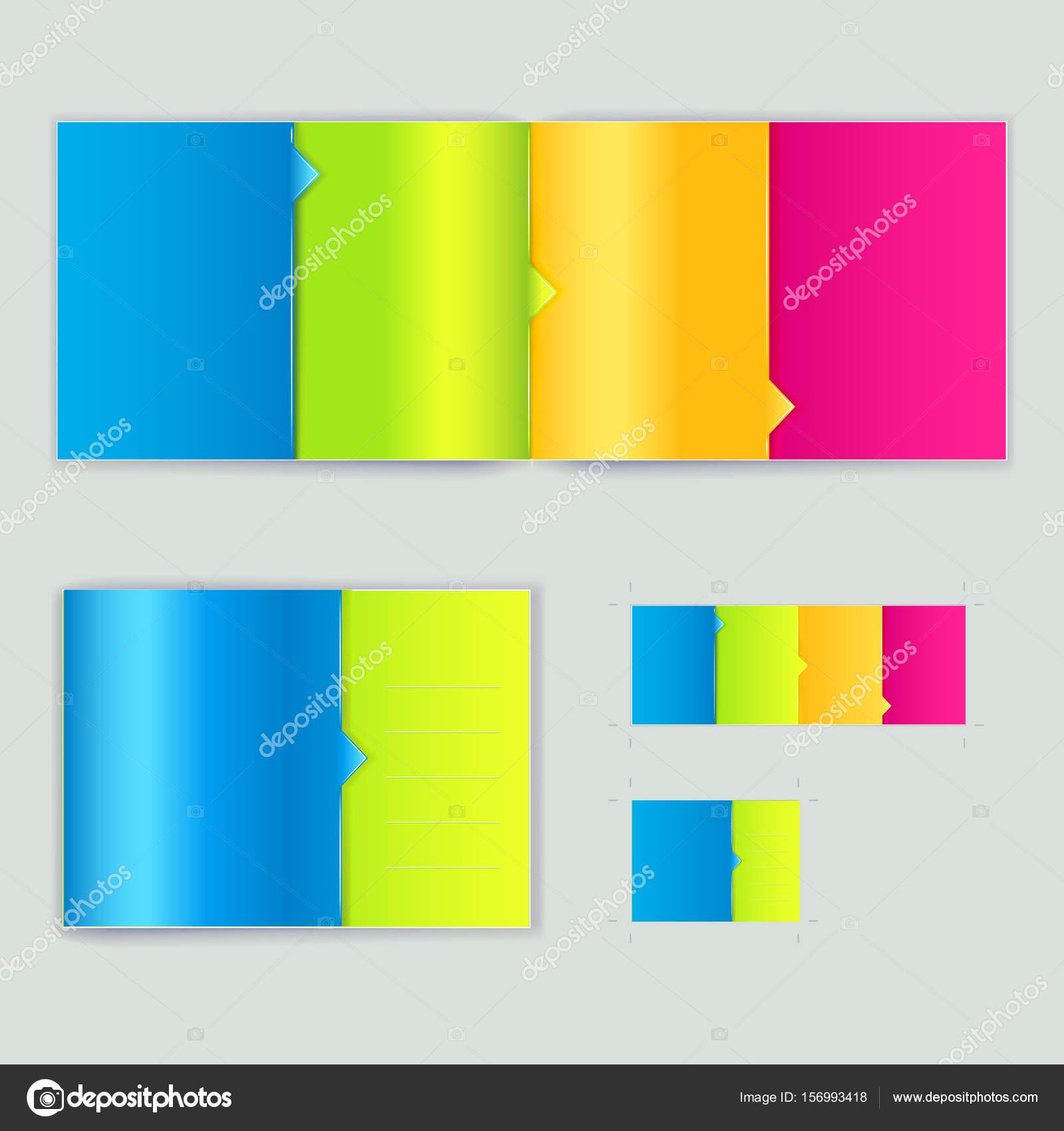 cuadernillo, plantilla de promoción — Archivo Imágenes Vectoriales ...