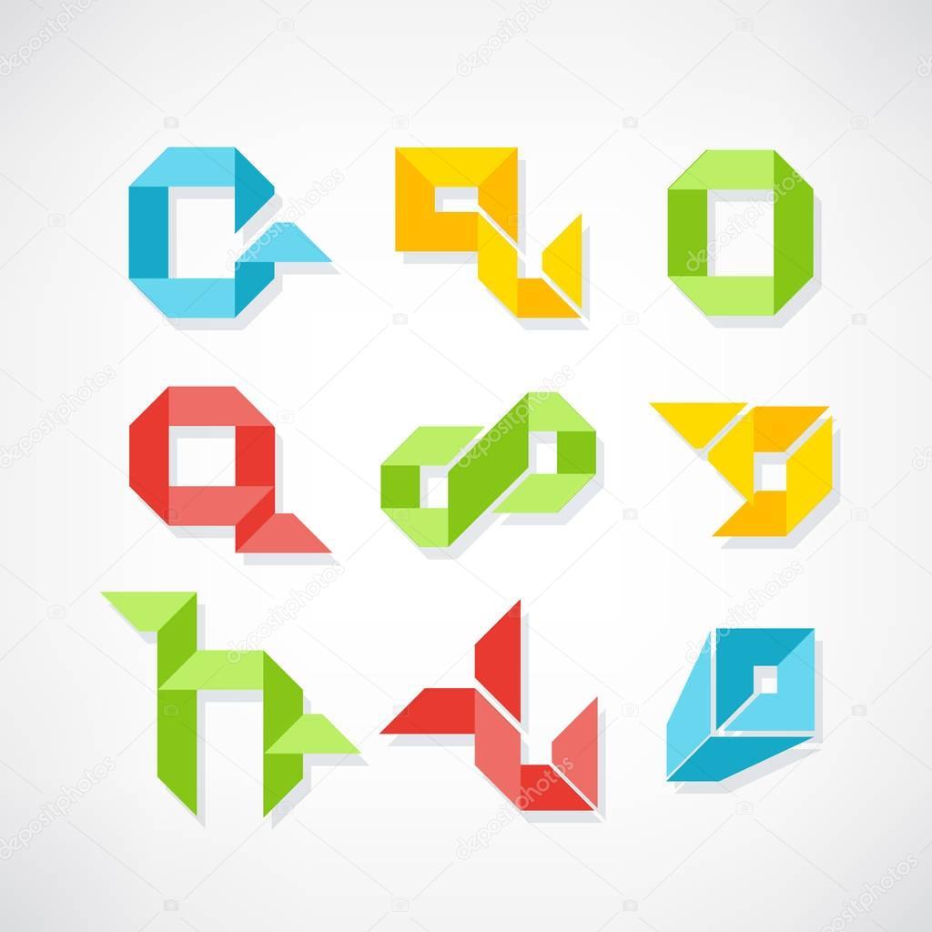 Set of minimal geometric symbols