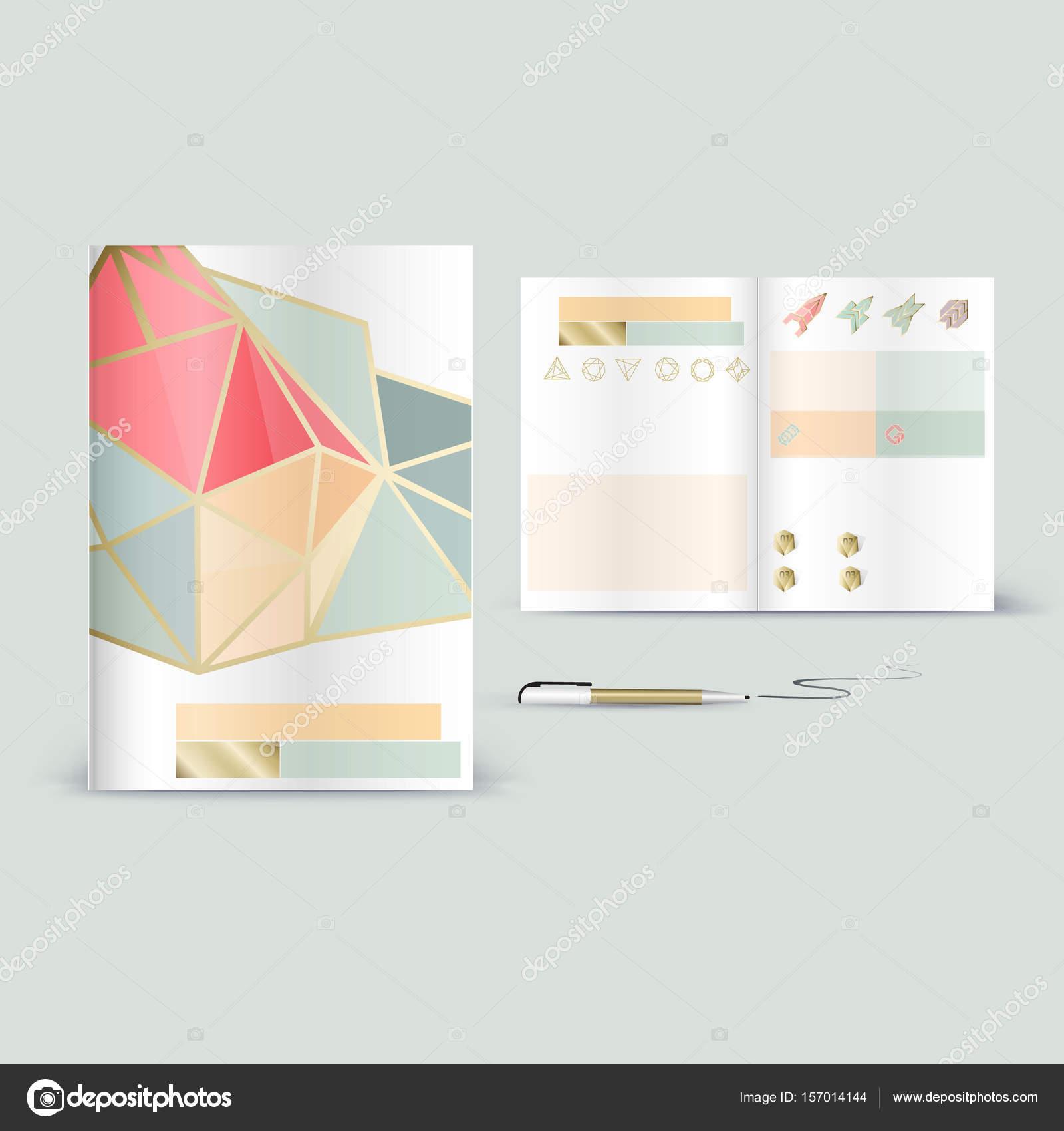booklet promotion template stock vector wildrabbit 157014144