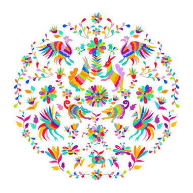 Mexican Otomi Style embroidery