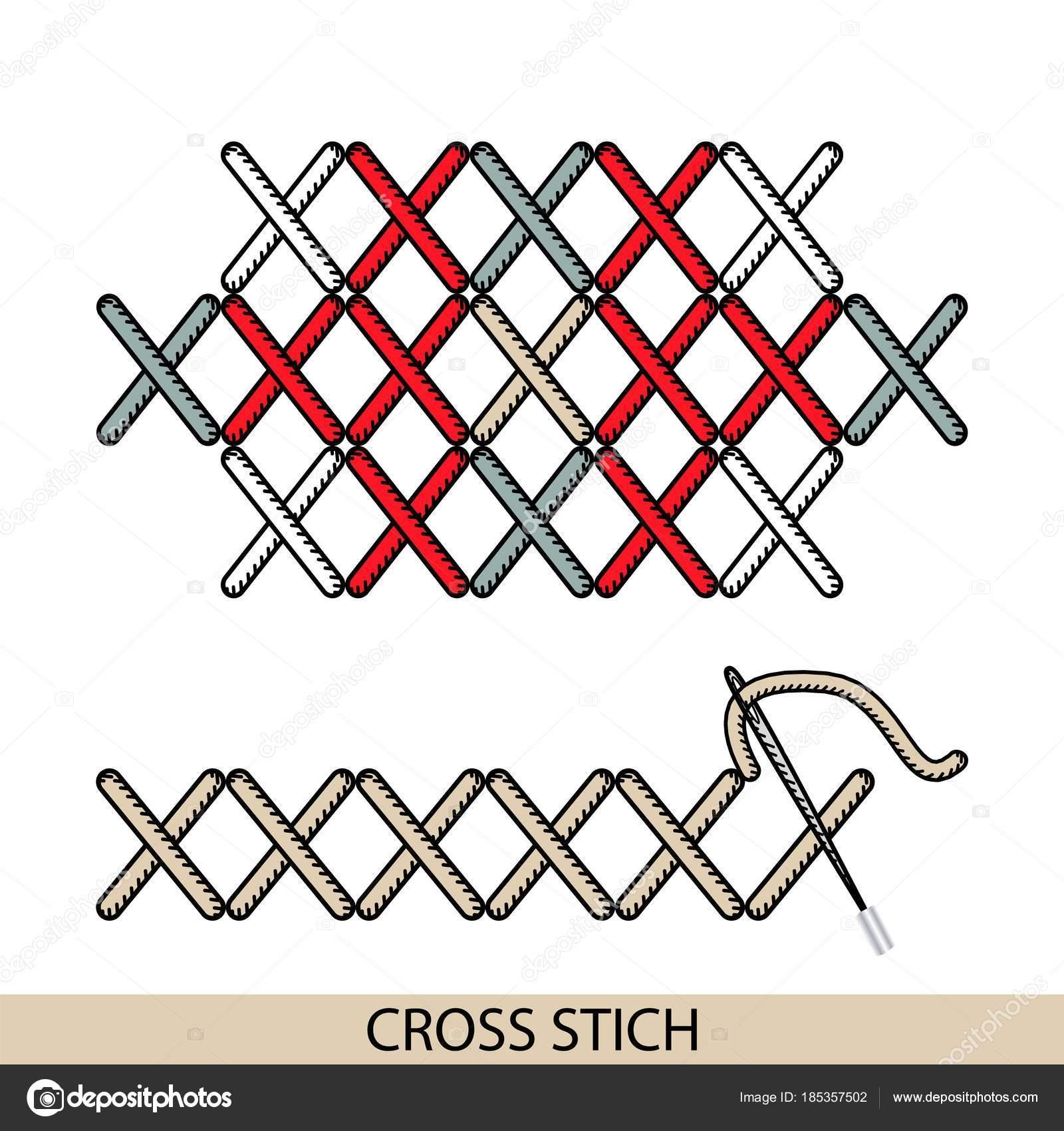 hilo para coser puntadas y bordados a mano — Archivo Imágenes ...