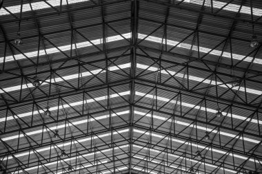 steel structures metal construction roofs workshop in factory