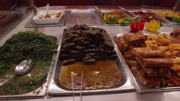 In the Arabian cafe. Arabic dishes.