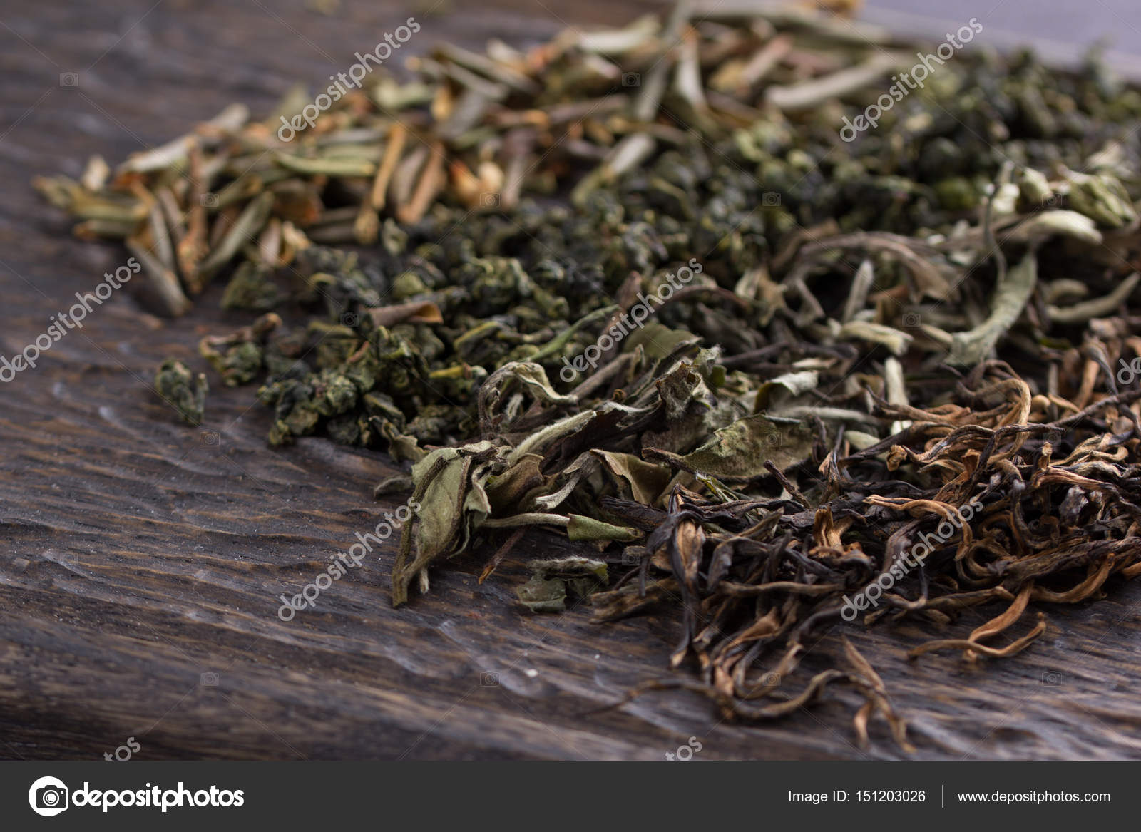 Dry Leaves Of Different Types Of Tea Stock Photo C Danilsneg