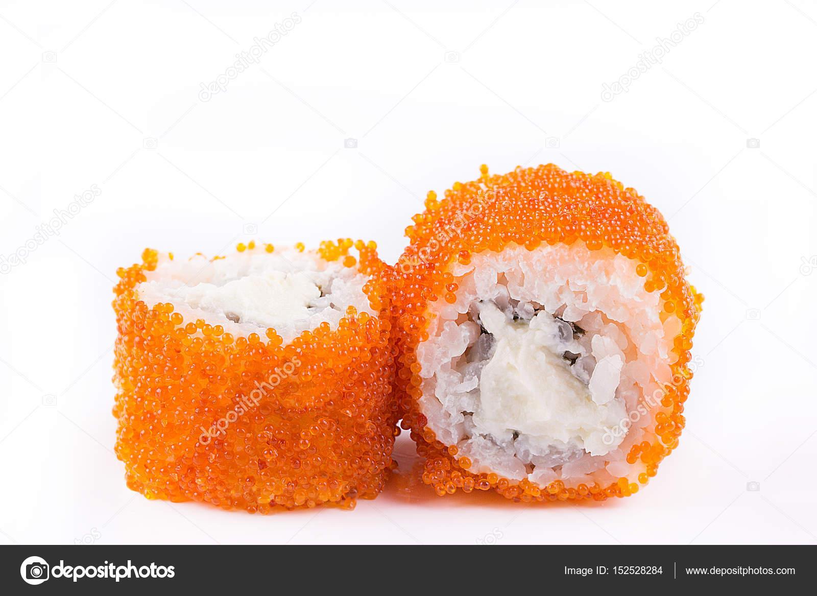 japanische Küche, Sushi Set: Sushi und Sushi Rollen in Kaviar mit ...