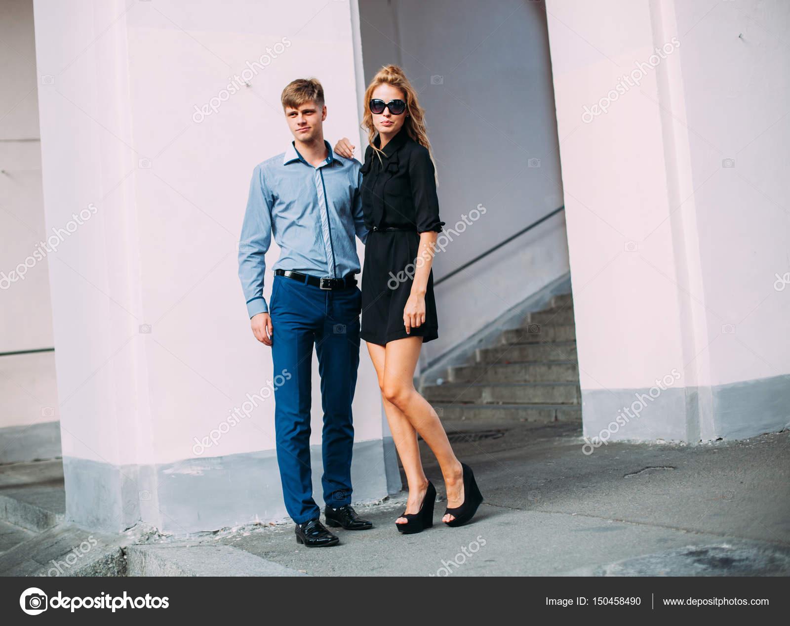 Mann mit Mode schönen Frau Liebesgeschichte jungen und kaukasischen BQCedxroWE