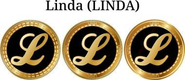 Set of physical golden coin Linda (LINDA)