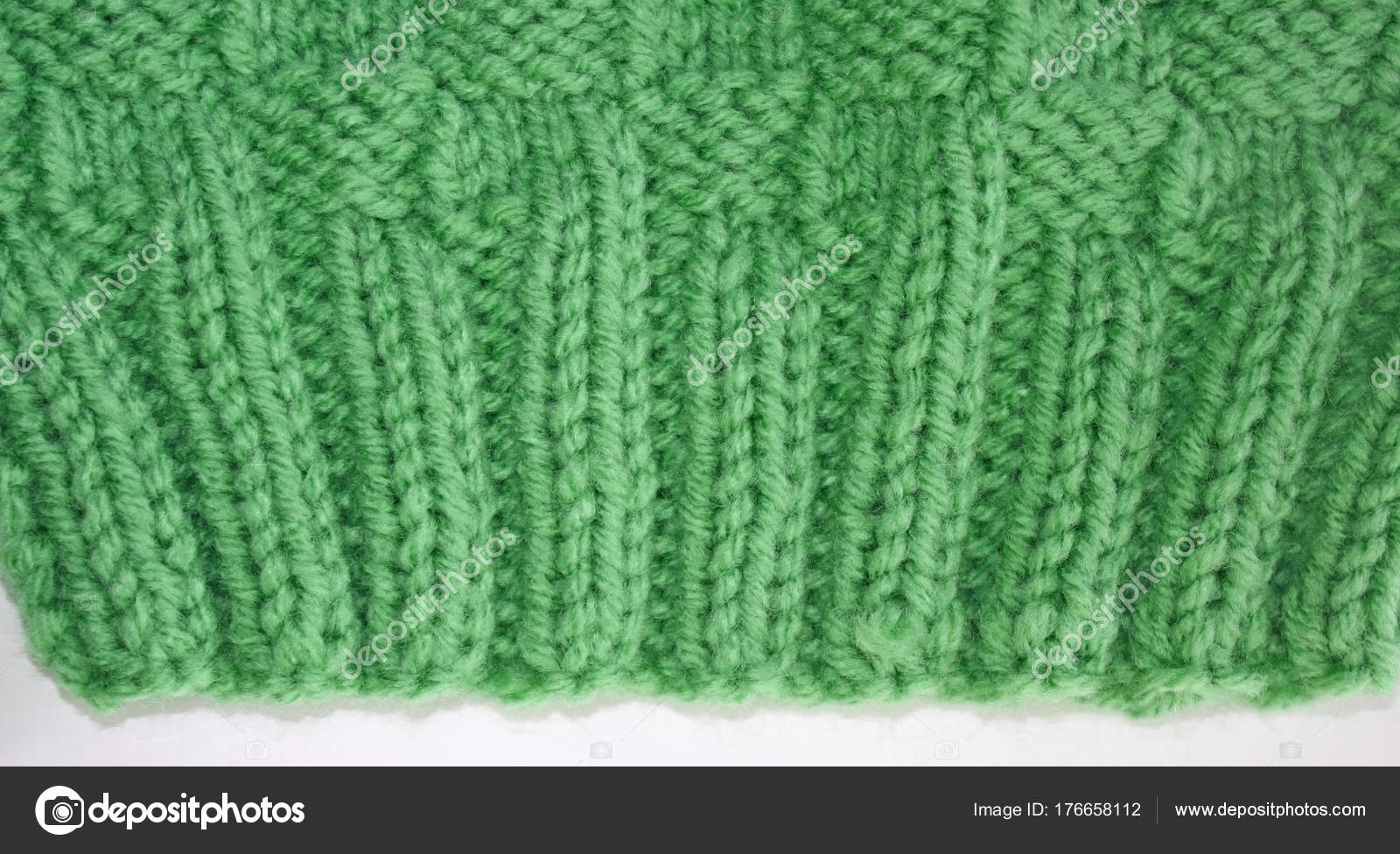 Close Knitted Rib Stitch Knit Two Purl Two Knit Two Stock Photo