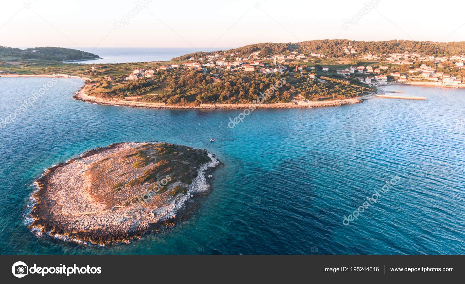 Schönen Guten Morgen Landschaft Auf Der Kroatischen Insel