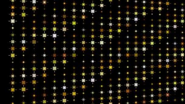 Arany csillogó mintát mozgás háttér videó. Négyzet alakú Pislogás háttér. Prémium szikrázó pontok, remekművé ünnepe grafikai tervezés.
