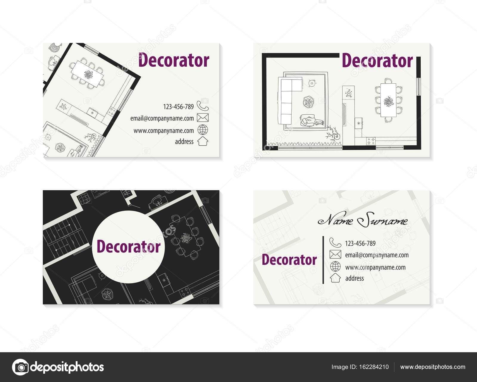 Carte De Visite Dun Architecte Illustration Stock