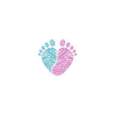 Baby footsteps vector illustration