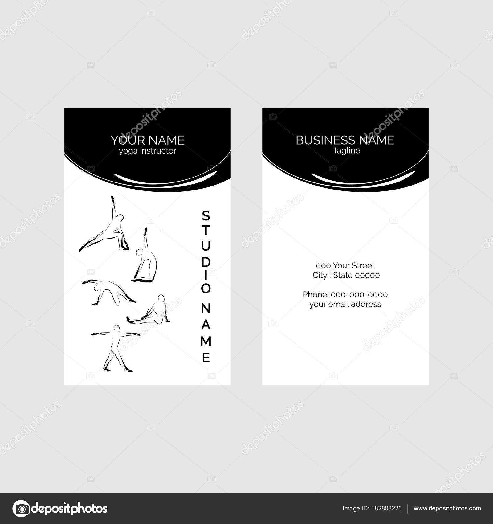 Yoga Visitenkarte Vektor Vorlage — Stockvektor © sashica #182808220