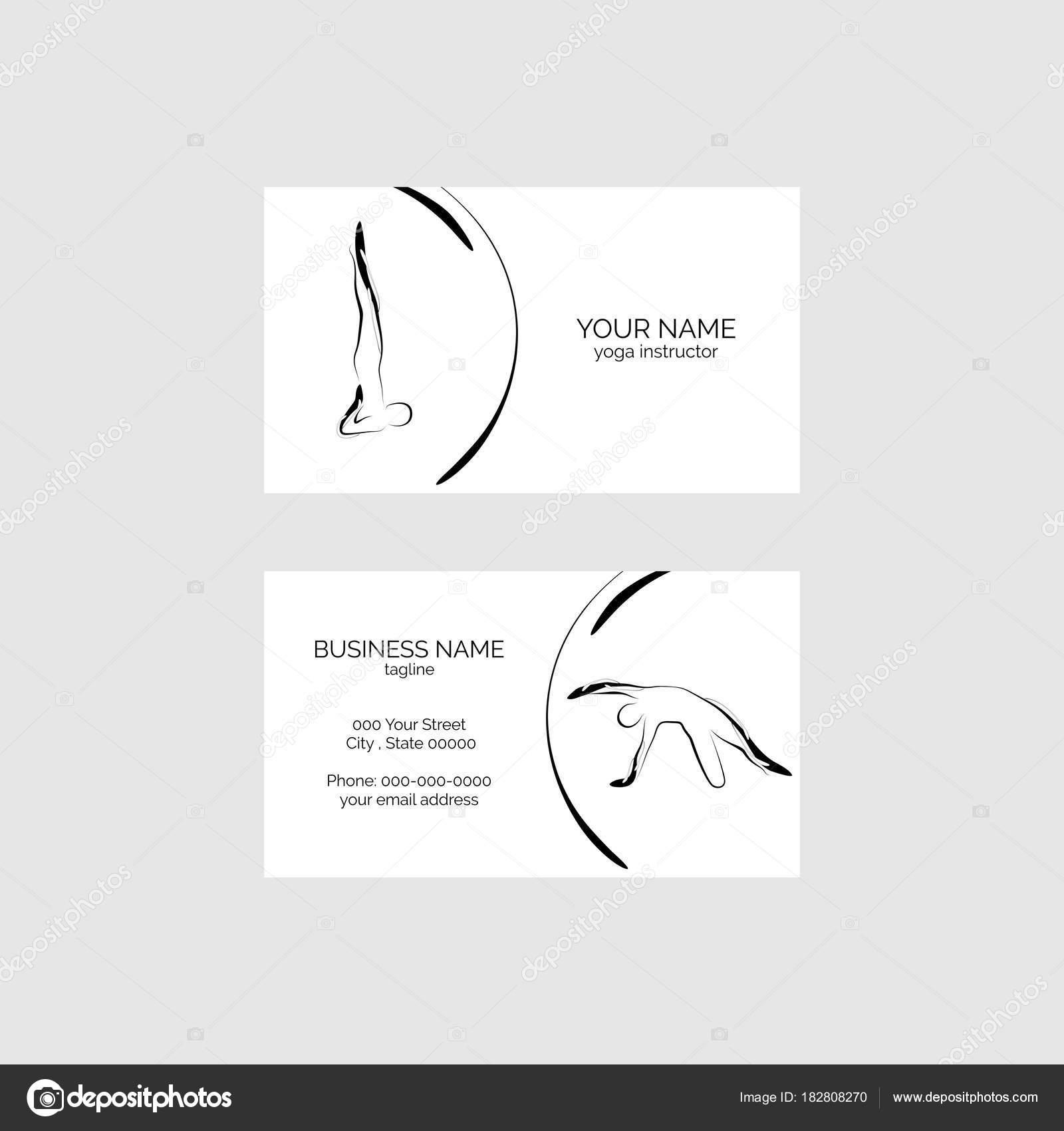 Plantilla Vector Tarjeta Visita Yoga — Vector de stock © sashica ...
