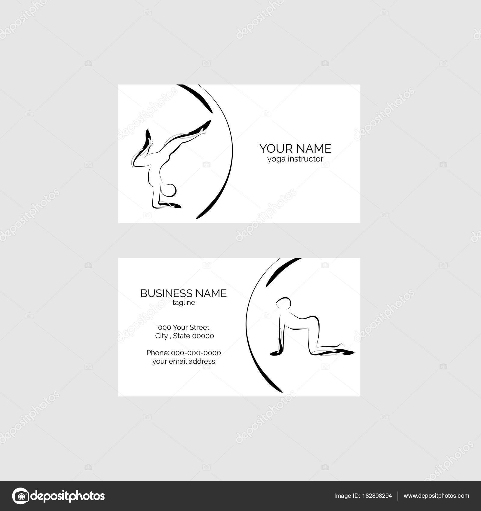 Yoga Visitenkarte Vektor Vorlage Stockvektor Sashica