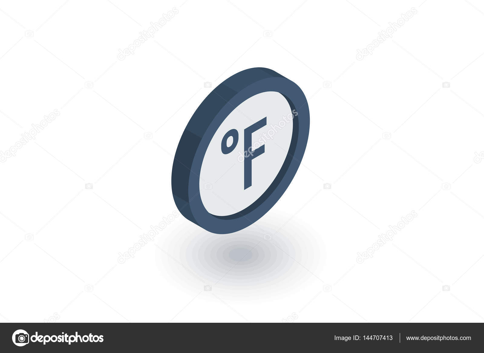 Degree fahrenheit isometric flat icon 3d vector stock vector degree fahrenheit isometric flat icon 3d vector colorful illustration pictogram isolated on white background vector by rhilch biocorpaavc Choice Image