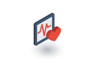 pulse cardiogram flat icon