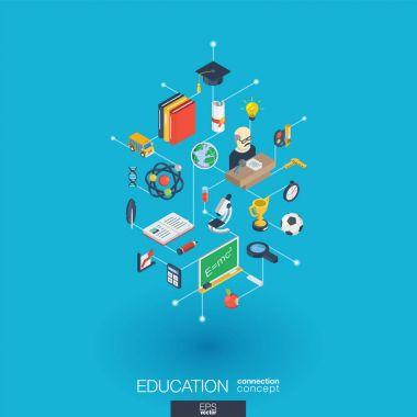 Education web icons.