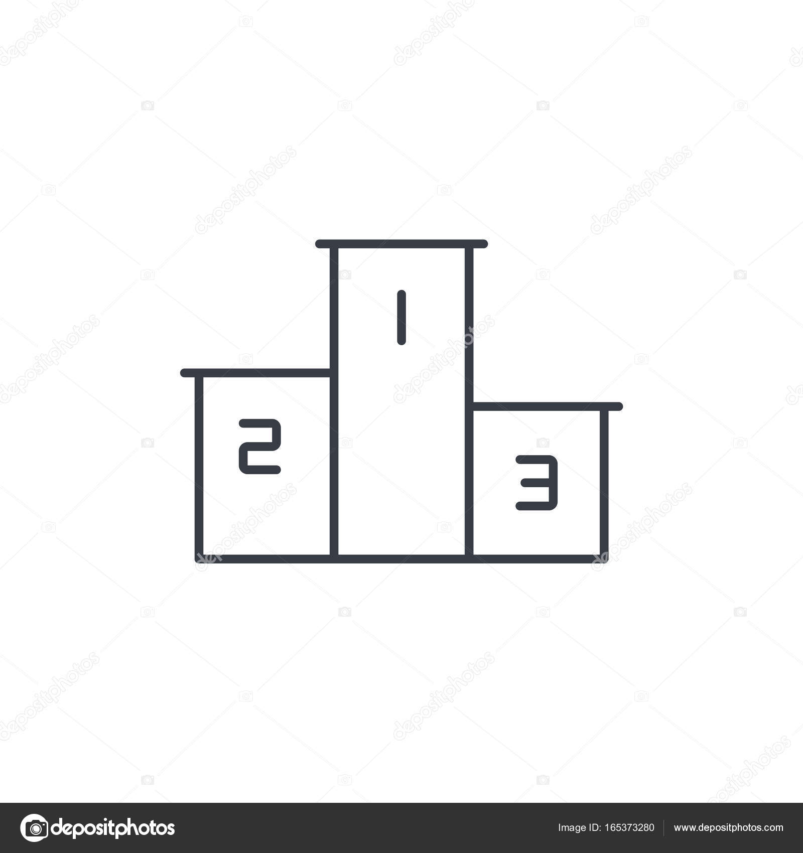 Empty winners podium first second third place award ceremony empty winners podium first second third place award ceremony thin line icon linear vector illustration pictogram isolated on white background vector buycottarizona Gallery
