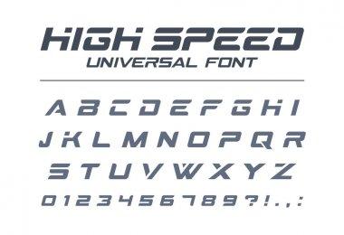 High speed universal font.