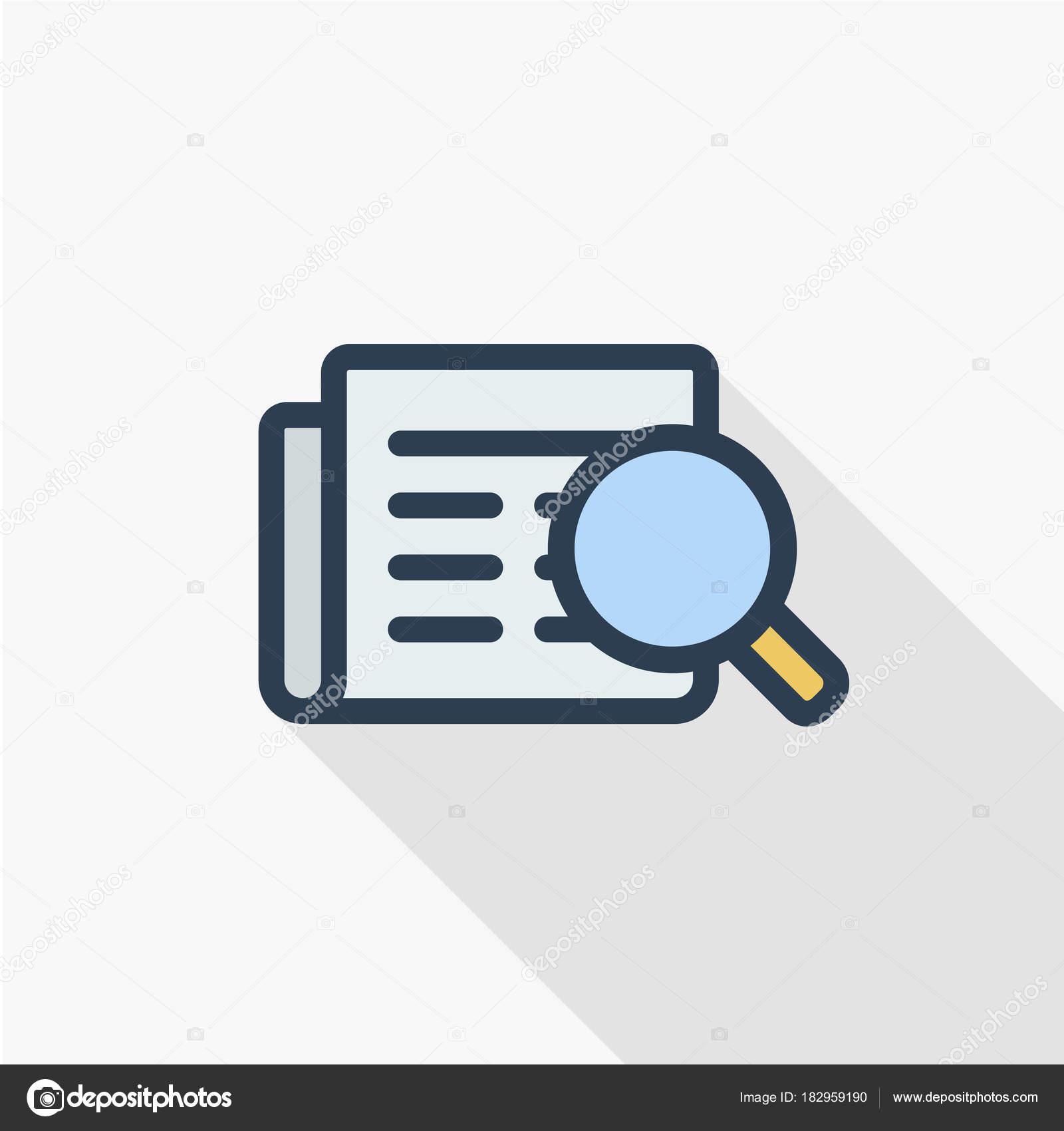 reclutamiento, icono de buscar curriculum vitae — Vector de stock ...