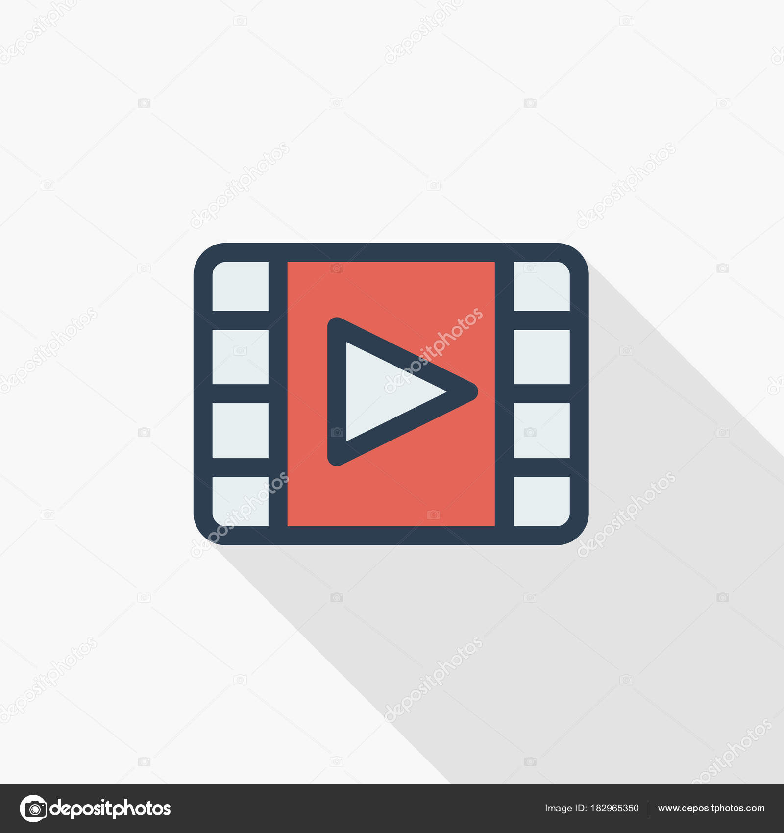 video frame icon — Stock Vector © r.Hilch #182965350