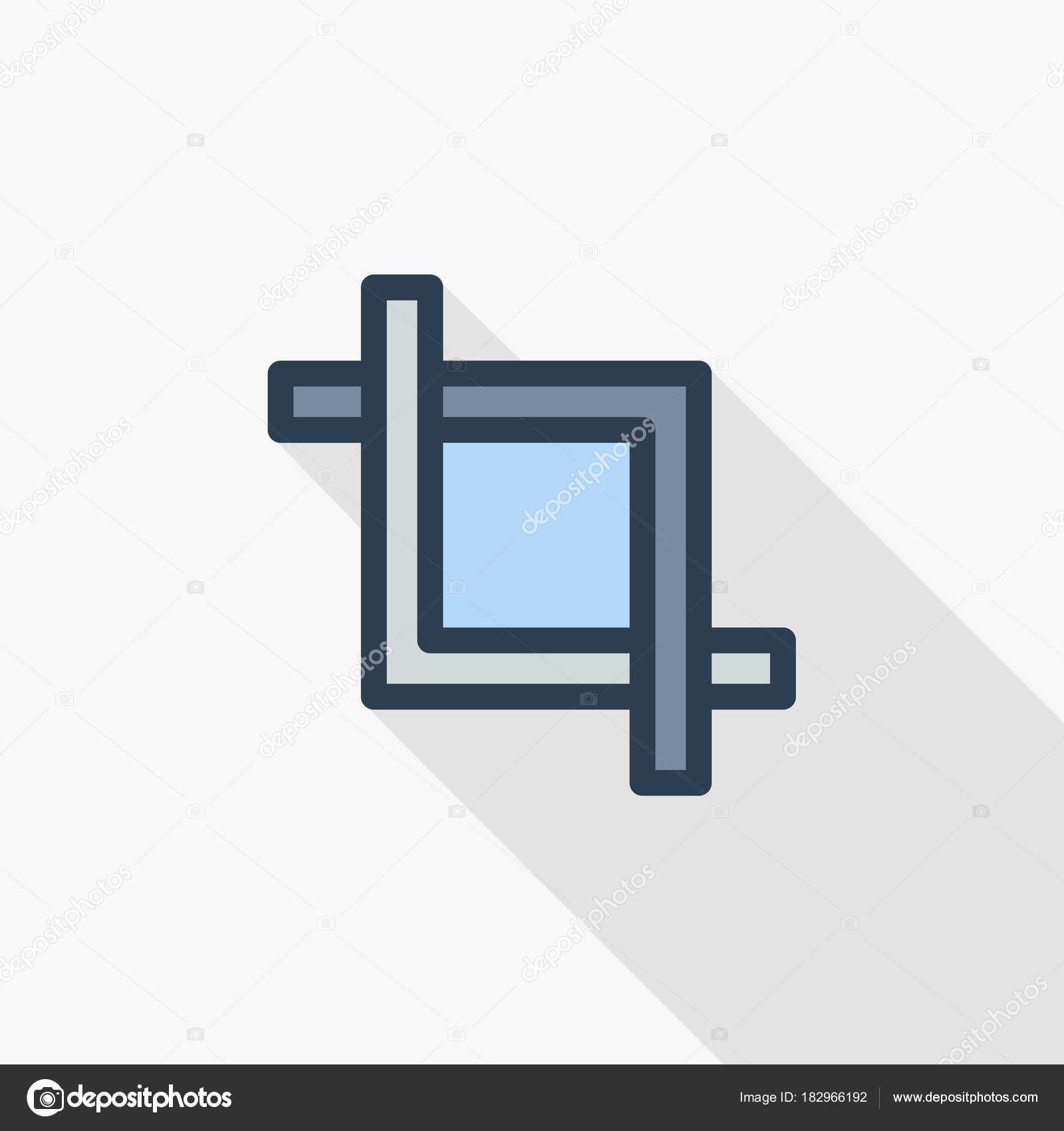 marco de corte icono — Vector de stock © r.Hilch #182966192