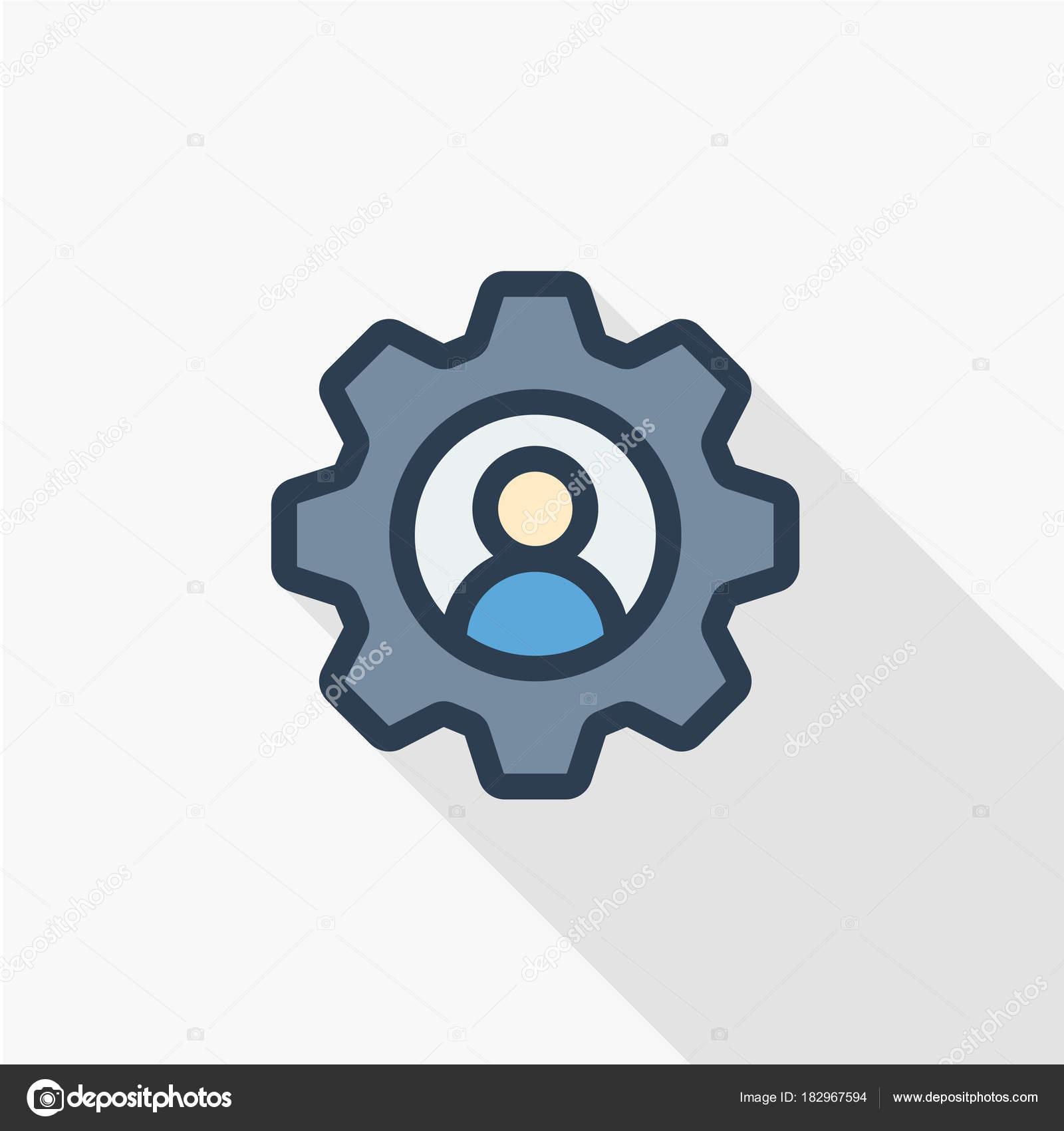 Icono de línea de reclutamiento — Vector de stock © r.Hilch #182967594