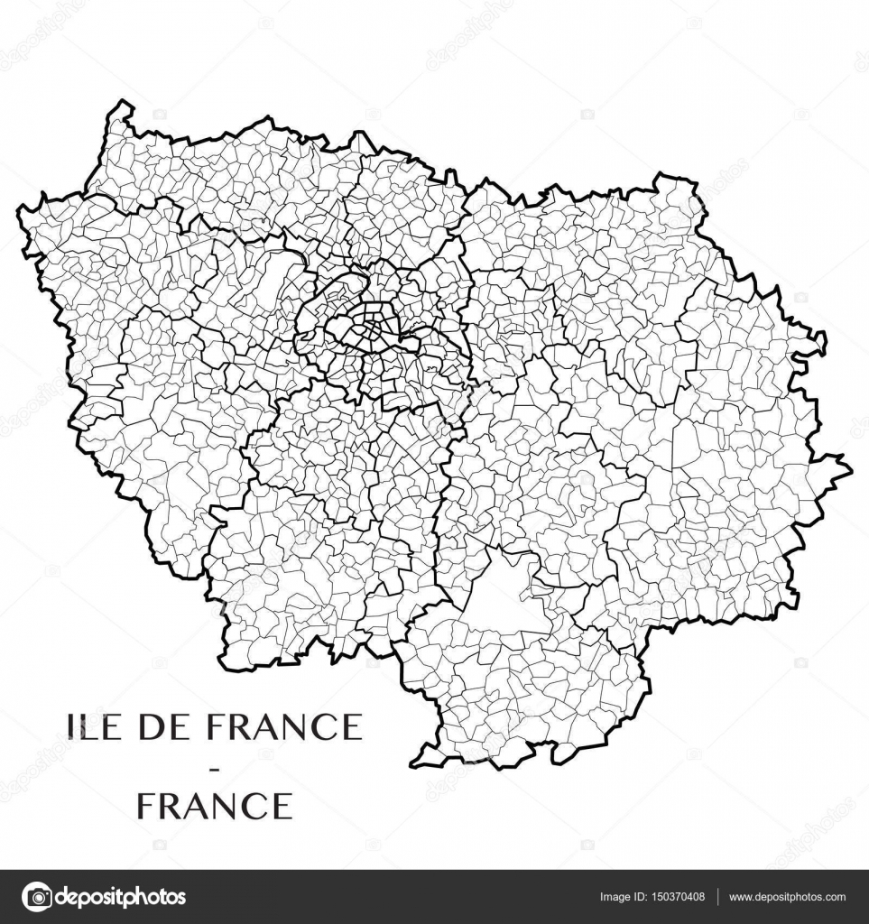 Detailed Map Of The French Region Ile De France France