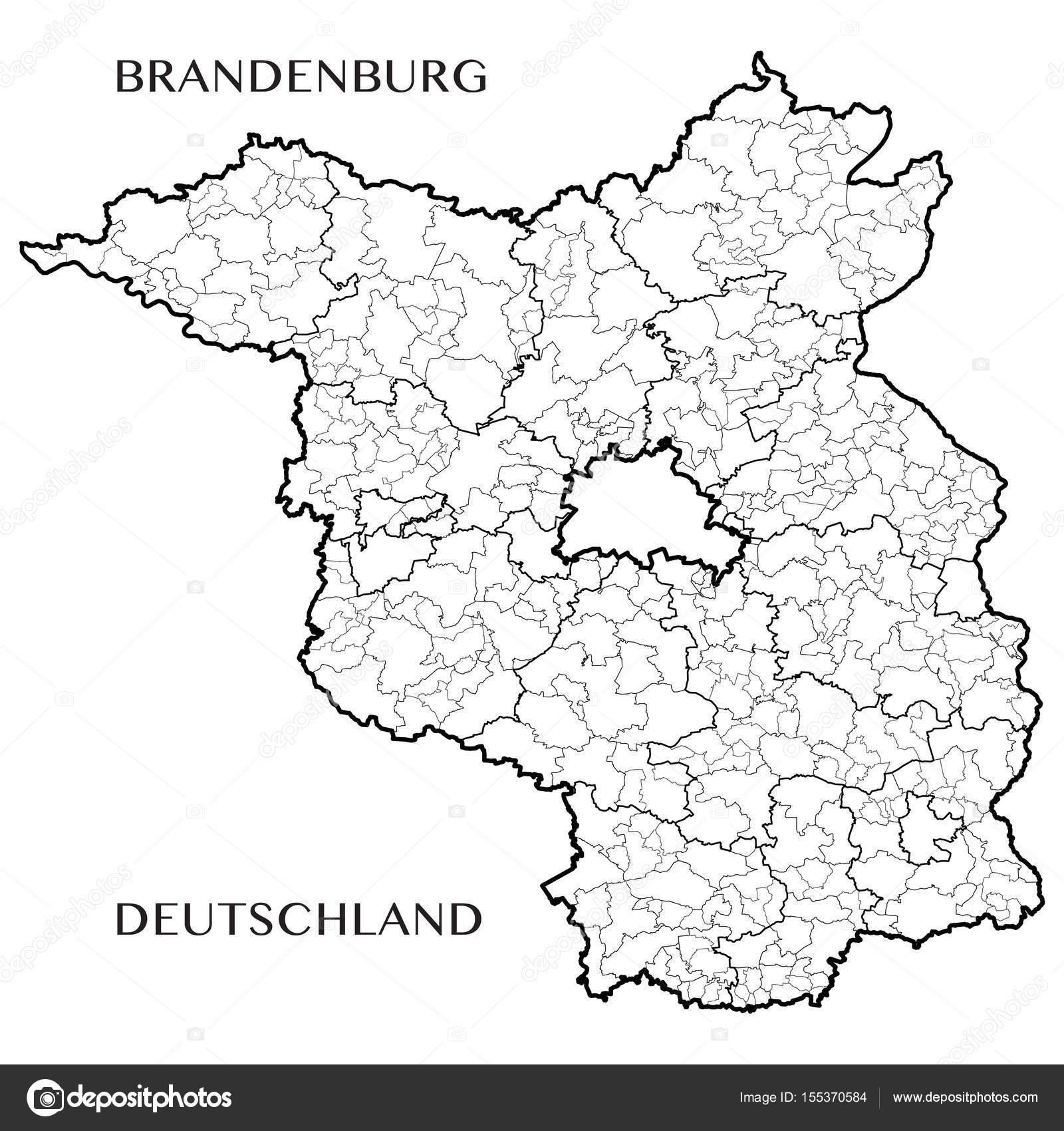 Land Brandenburg Karte.Detaillierte Karte Des Landes Brandenburg Deutschland Mit Grenzen