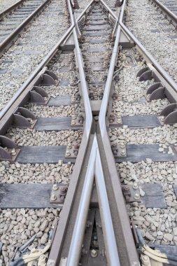 Portrait of Railway tracks