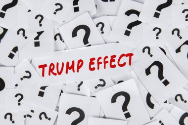 Trump Effect word and question marks