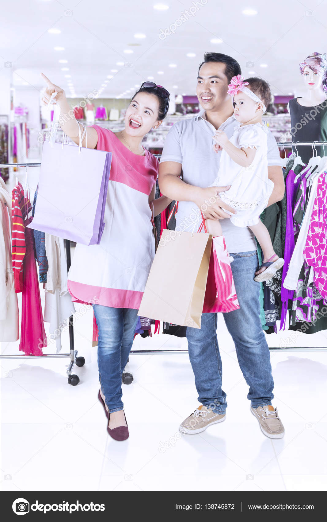 Family Shopping In Fashion Store Stock Photo C Realinemedia 138745872