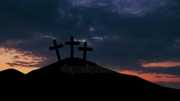 Három kereszt szimbóluma a sky napkelte