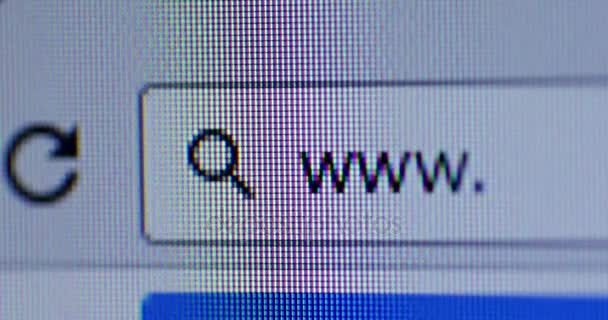 Browser bar with WWW