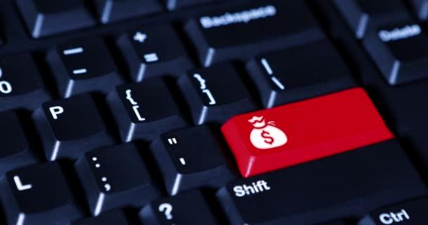 Ruční stisknutím tlačítka s ikonou pytel peněz