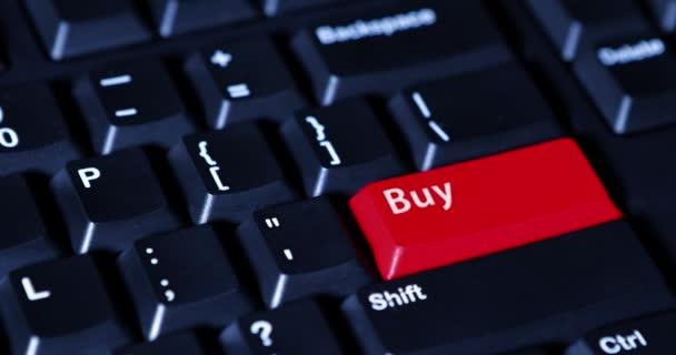d211999e2857 Человеческая рука нажать кнопку Купить — Стоковый видеоролик ...