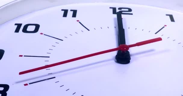 Wall clock with twelve oclock