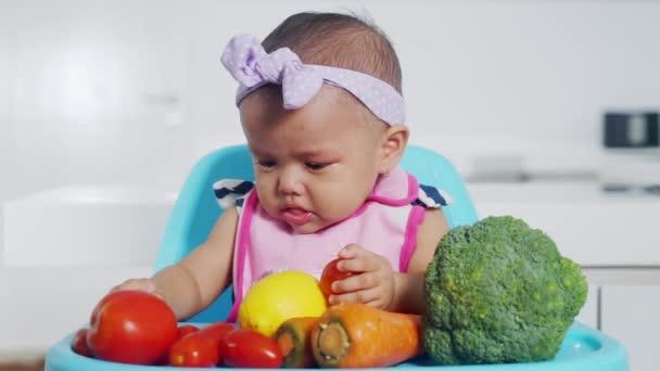 Smutné dětské hraní zelenina