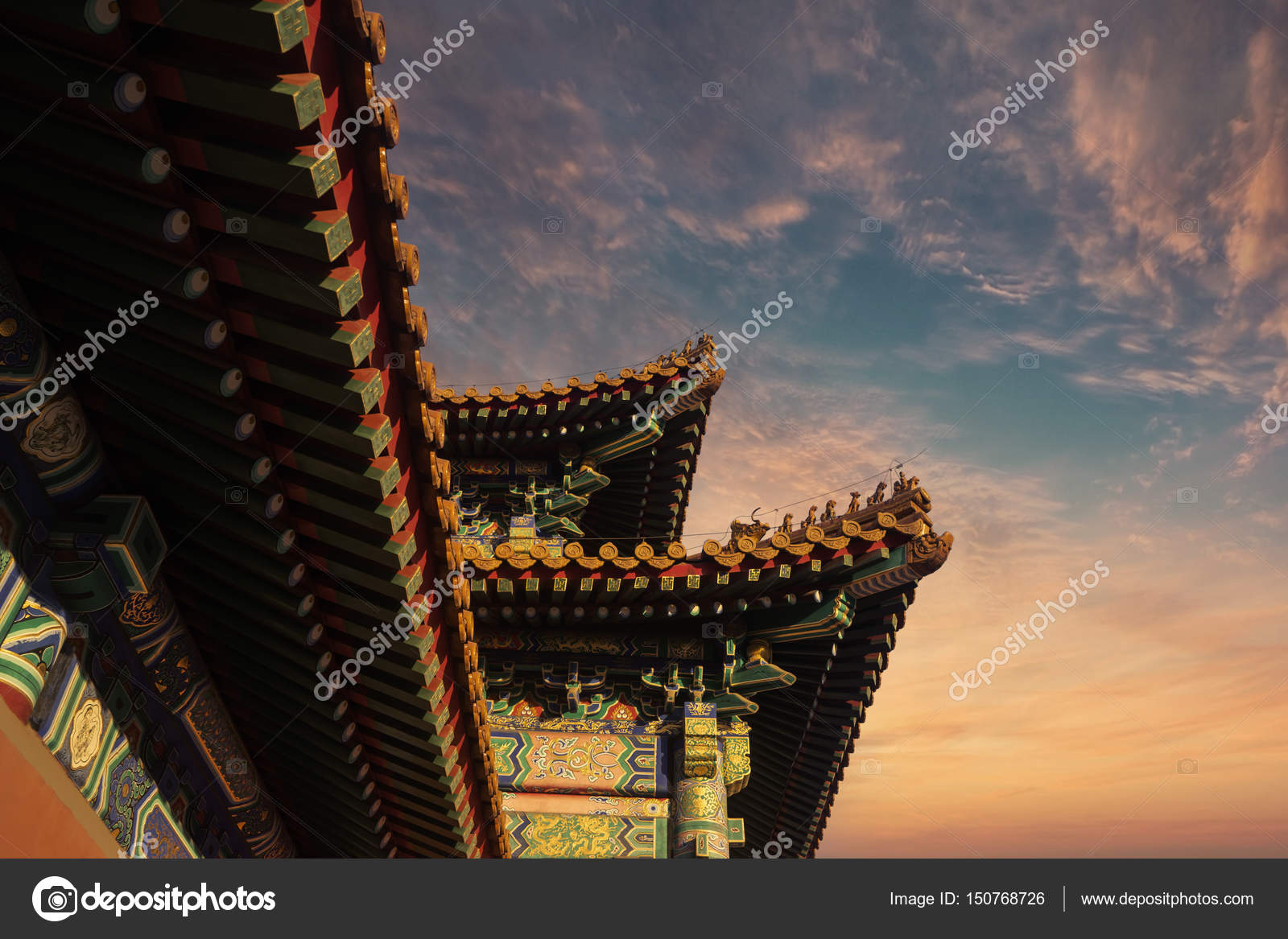 the roof decoration in imperial palace stock photo realinemedia