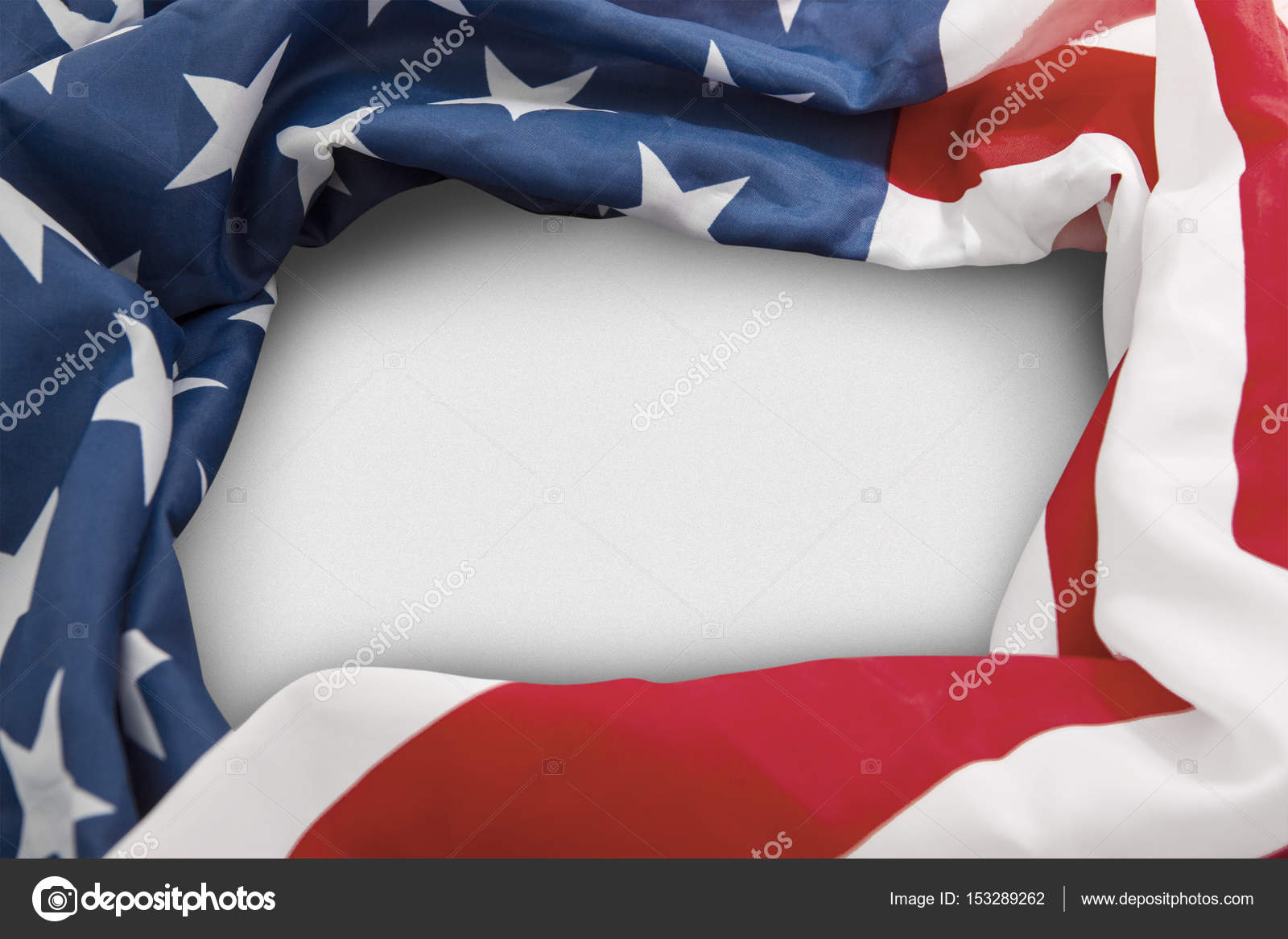 Frame of American flag with copy space — Stock Photo © realinemedia ...