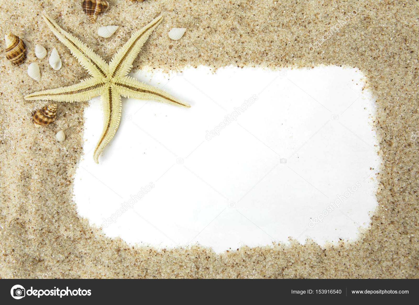Starfish with sand frame — Stock Photo © realinemedia #153916540