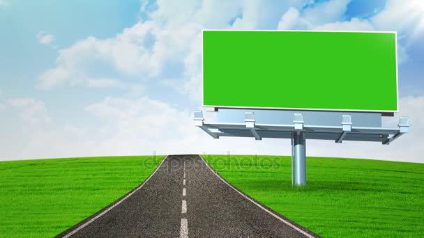 Üres billboard-autópálya közelében