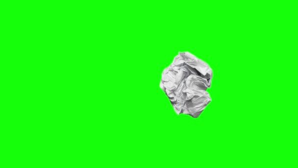 Crumpled paper on green screen background